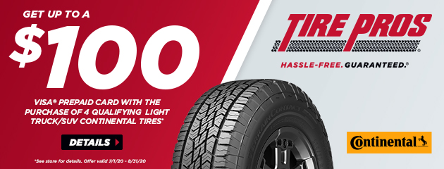 Continental Tire Pros Rebate
