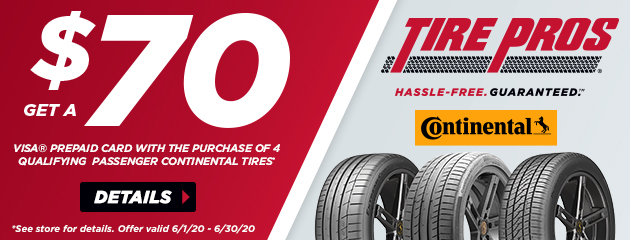 Continental Tire Pros Summer Rebate