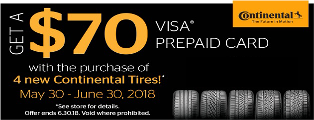 Continental Summer Rebate