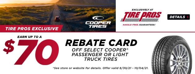 Tire Pros Exclusive Cooper Rebate