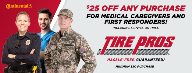 $25 OFF Any Purchase for Medical Caregivers and First Responders