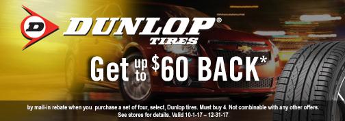 Dunlop Tires Rebate