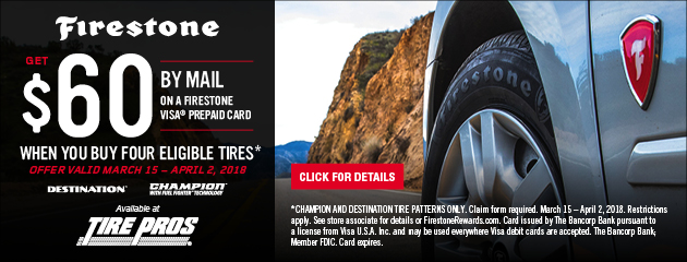 Firestone Rebate