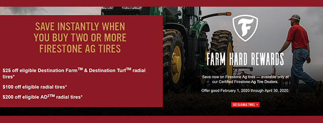 Firestone Spring Hard Rewards Rebate