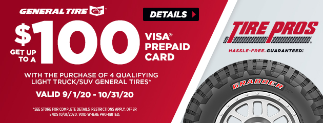General Tire Pros Summer Rebate