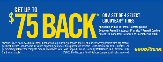 Goodyear Tire 2020 Rebate