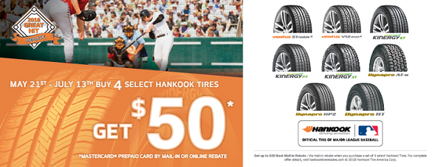 Hankook 2018 Great Hit Rebate!