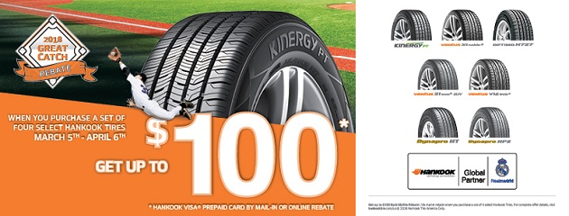Hankook 2018 Great Catch Rebate