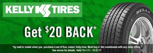 Kelly Tires Rebate