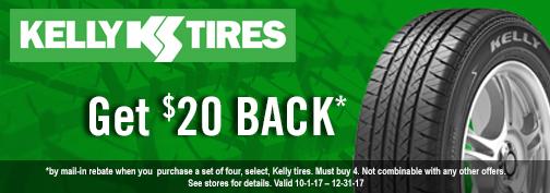 Kelly Tires Rebate