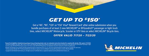 Michelin Extended Summer 2020 Rebate