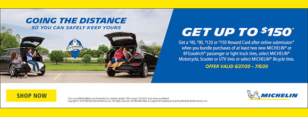 Michelin Summer 2020 Rebate