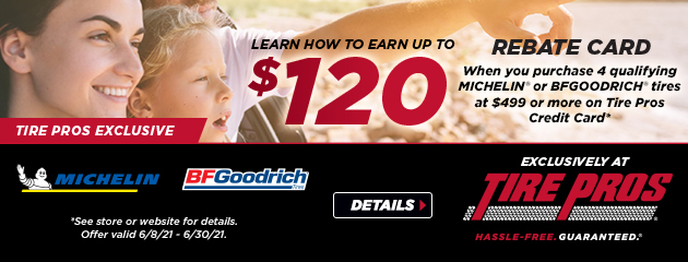 Michelin and BFGoodrich Tire Pros Exclusive