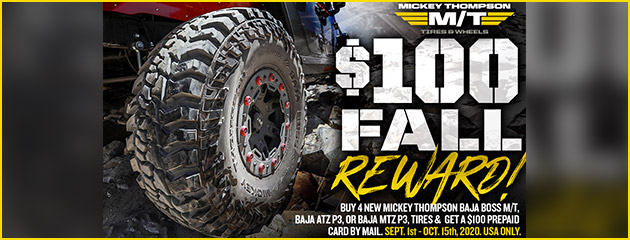 Mickey Thompson Fall 2020 Rebate