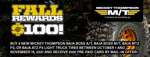 Mickey Thompson Fall Rewards