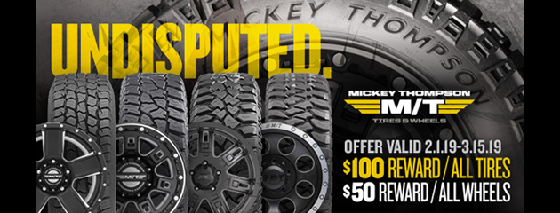 Mickey Thompson Winter Rebate Sale