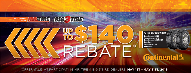 Mr. Tire Continental Rebate