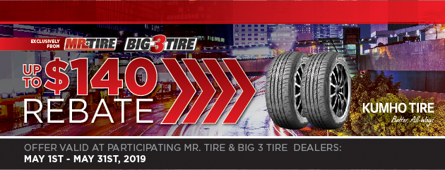 Mr. Tire Kuhmo Rebate