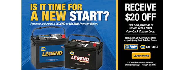 $20 OFF Qualifying Batteries