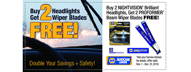 Buy 2 Headlights... Get 2 Wiper Blades Free!