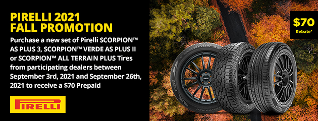 Pirelli 2021 Fall Promotion