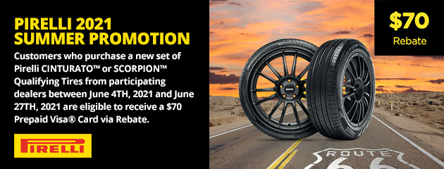 Pirelli 2021 Summer Promotion