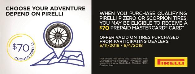 Pirelli Summer Rebate