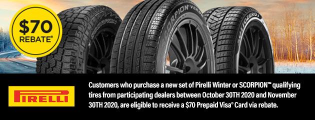 Pirelli Fall 2020 Rebate