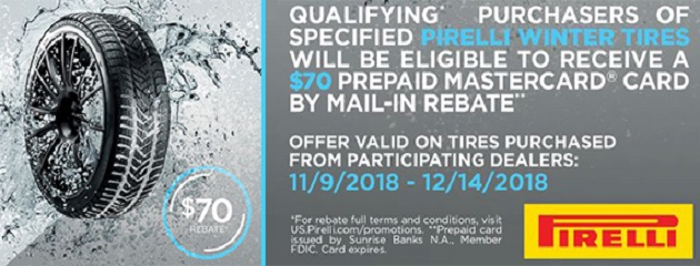 Pirelli Winter Rebate