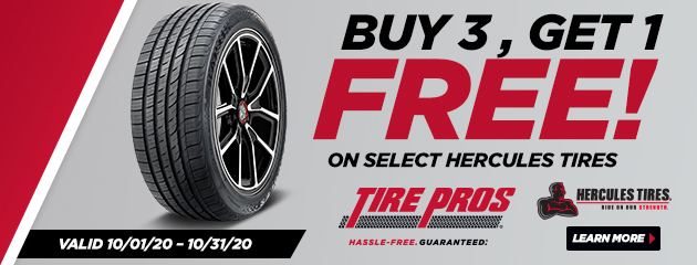 Tire Pros Exclusive. Buy 3, Get 1 Free!