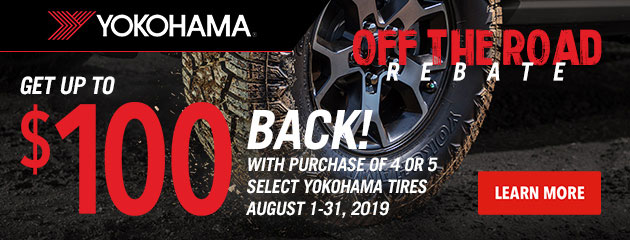 Yokohama August Rebate