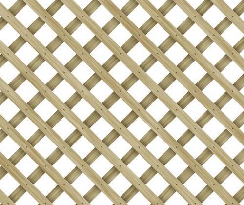 4 ft x 8 ft Clear Cedar Diagonal Pattern Unframed 1 in x 2 in Lattice
