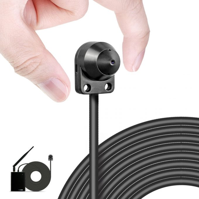 HD Mini Cam, Wireless Motion Activated Security Camera, Micro Tiny Lens, WiFi PoE