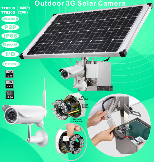 Titathink-3G solar power camera