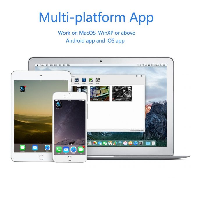 Multi-platform app for titathink security camera, app for iphone ipad android smartphone tablet and windows pc and macbook