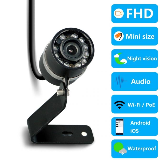 titathink tt526pw 1080p mini security camera with night vision, audio recording for outdoor surveillance