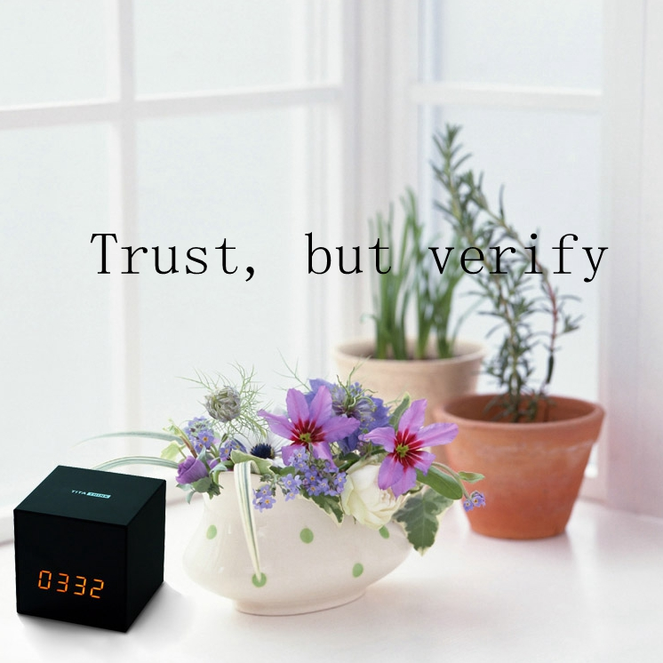 Titathink--Trust, but verfiy