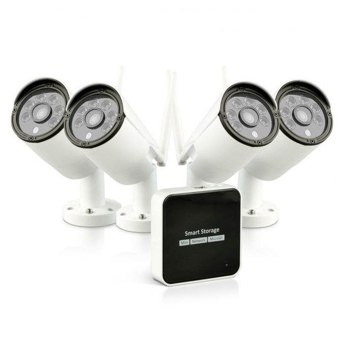 Mini Security Surveillance System Kit, 1080P Wireless Security Camera with Night Vision, Motion Activated, 4 Channel