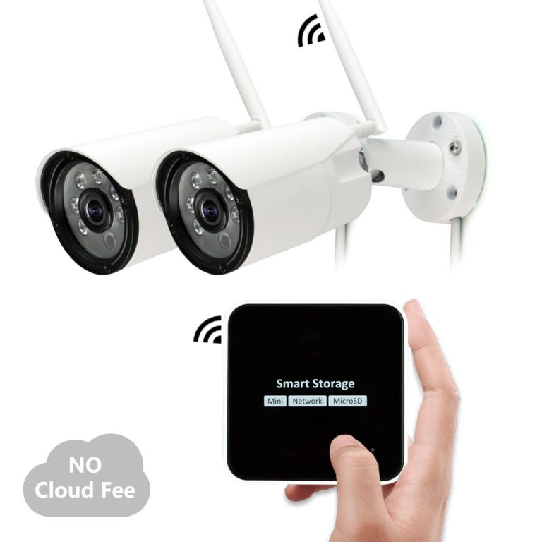 Mini Security Surveillance System Kit, 1080P Wireless Security Camera with Night Vision, Motion Activated, Multiple-view