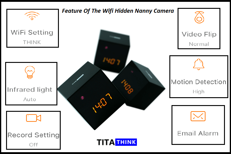 Feature of the WiFi Hidden Nanny camera