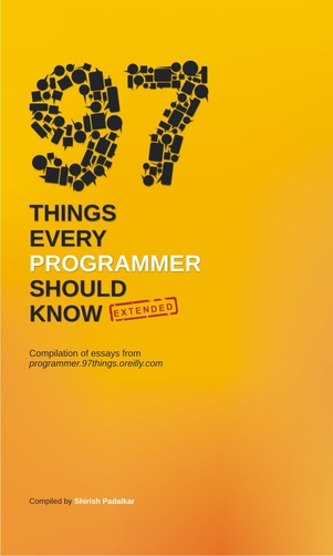 97 Things Every Programmer Should Know - Extended cover page