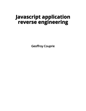 Javascript application reverse engineering