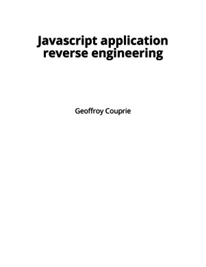 Javascript application reverse engineering