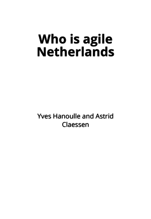 Who is agile Netherlands