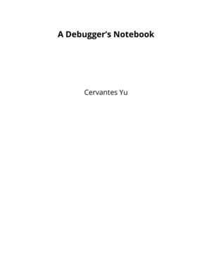 A Debugger's Notebook