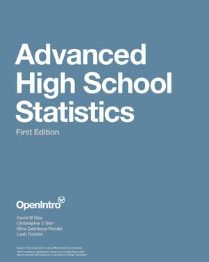 Advanced High School Statistics
