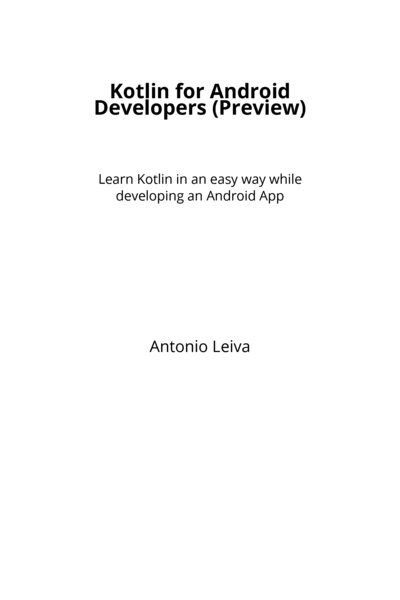 Kotlin for Android Developers (Preview)