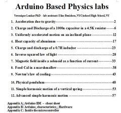 Arduino based physics labs