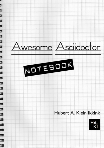 Awesome Asciidoctor Notebook