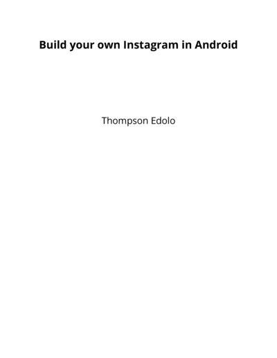 Build your own Instagram for Android